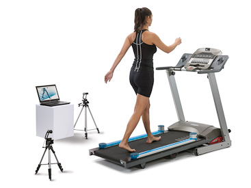 One meter system on treadmill